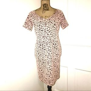 Guess Dresses - Guess pink leopard print dress